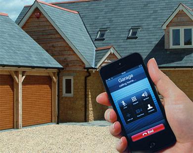 remote garage door phone app picture