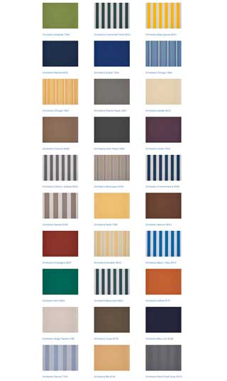 south coast shutters awnings colours 2