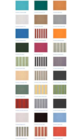 south coast shutters awnings colours 3