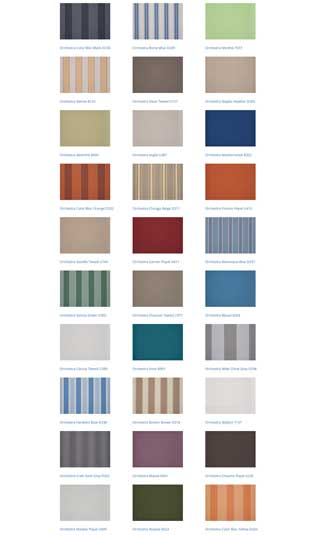 south coast shutters awnings colours 4
