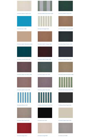 south coast shutters awnings colours 6